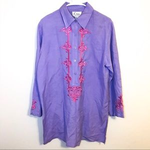 Linea by Louis Dell'Olio Embroidered Tunic Top